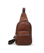 YULAN Men And Women Genuine Leather Business Casual Sport Chest Bag / Travel Shoulder Bag Sling Bags Backpack Messenger Bag