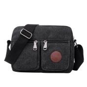 Men's Sports Bag Double Shoulder Canvas Shoulder Bag Large Capacity Messenger Bag