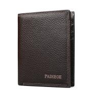 Padieoe Leather Briefcase Shoulder Cross-body Laptop Business Bag for Men