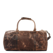 LECONI holdall weekender sports travel bag cow leather retro vintage for men and women 53x28x28cm LE2004