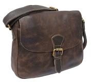 Women's Rowallan Vinatge Brown Leather Shoulder Bag