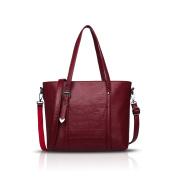 Tisdaini Women's handbags fashion monochrome large-capacity PU leather soft bag casual shoulder Messenger bag