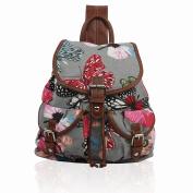 Unisex Back To School Canvas Backpack Rucksack School bag College Work Shoulder Bag