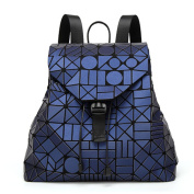 Geometric shoulder bag scrub colourful stitching laser Backpack Drawstring Bag Holographic Backpack