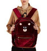 Ladies Backpacks Bags Handbags Ladies Cartoon Backpack Velvet Handbags