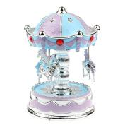 Pu Ran LED Glowing Merry-Go-Round Carousel Music Box Kids Toy Christmas Birthday Gift