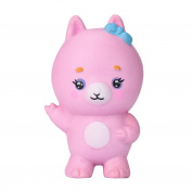 HKFV Charming Cute Lovely Pink Sheep Coat Design Stress Relief Toys Finger Toys Soft Toys Squishy Goat Jumbo 10cm Slow Rising With Packaging Animals Collection Gift Decor Toy