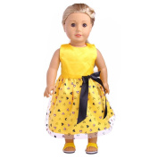 Dress for Baby Doll Toy, TUDUZ Newest Funny Lovely Princess Dress Up Costume For 46cm Our Generation American Girl Doll Decompression Toys Toys Gift Fun for Kids Christmas Gift