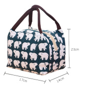 Portable Lunch Bag Baokee® Insulatio Waterproof Canvas Lunch Bag Thermal Lunch Picnic Bag
