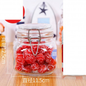 With lock buckle Protection cover Bottles Airtight Honey bottle Pickle altar Milk powder cans Sugar snack box [storage jar] Pickled Enzyme bottles-D