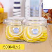 With lock buckle Protection cover Bottles Airtight Honey bottle Pickle altar Milk powder cans Sugar snack box [storage jar] Pickled Enzyme bottles-M