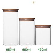 [lidded] Bamboo cork sealing cans Bottles Airtight Flower tea Food Storage bottles Sealed tank storage Cans Jar450Ml-D