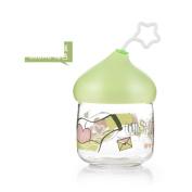 [lovely] Glass Airtight Dampproof [storage jar] [large] Honey bottle Enzyme bottles Milk Candy jar Wishing bottles-C