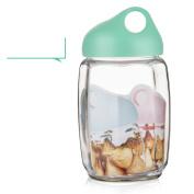 [lovely] Glass Airtight Dampproof [storage jar] [large] Honey bottle Enzyme bottles Milk Candy jar Wishing bottles-G