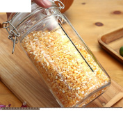 [buckle] Transparent sealed tank Glass [storage jar] Bottles Honey bottle Enzyme bottles Milk Candy jar Wine bottle-U