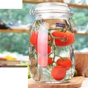 [buckle] Transparent sealed tank Glass [storage jar] Bottles Honey bottle Enzyme bottles Milk Candy jar Wine bottle-E