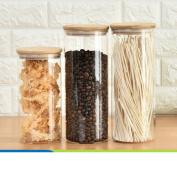 Transparent sealed tank Glass-sealed cans Storage tank Food Dried fruit Grains [storage jar] Jar The caddy Storage bottle-I
