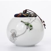 GWDZX Ceramics Celadon Matte Moisture Seal Storage Tank Tea Tank Tea Tank,A-13.3*12.3cm