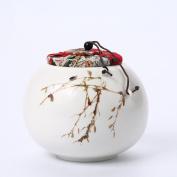 GWDZX Ceramics Celadon Matte Moisture Seal Storage Tank Tea Tank Tea Tank,D-13.3*12.3cm