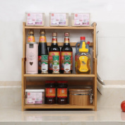 L Kitchen Racks Bamboo Tabletop Kitchen Utensils Seasoning Kitchen Supplies Multi - Storey Storage Rack