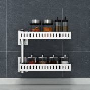 L Kitchen Racks Stainless Steel Wall-mounted Corner Shelf Spices Storage Rack
