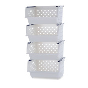 L Storage Basket Plastic Multi-functional Fruits And Vegetables Multi-storey Kitchen Racks