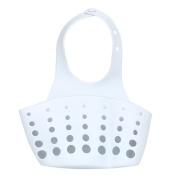 Prevently Creative Portable Home Kitchen Hanging Drain Bag Solid Colour Plastic Basket Bath Storage Tools Sink Holder Washroom Bathroom Draining Rack