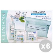 CLINIANS Set 6 Gift Idea hydra basic normal facial cleanser+skins+towels+clutch