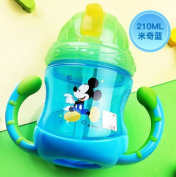 Disney Baby Study Drinking Bottle Kids Water Bottles with Straw mickey blue