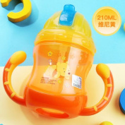 Disney Baby Study Drinking Bottle Kids Water Bottles with Straw princess yellow