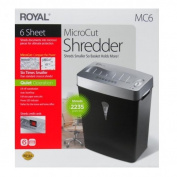 Royal MC6 6 Sheet Micro-Cut Shredder with Liftoff Basket