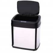 Homcom 15L LUXURY Automatic Sensor Dustbin Kitchen Waste Bin Rubbish Trashcan Auto Dustbin Stainless Steel with Bucket 33*25*37.5CM