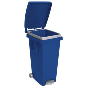 'Big Tata' Dustbin with Lid, Wheels and Foot Pedal. Dimensions 38 x 50 x H80 cm.