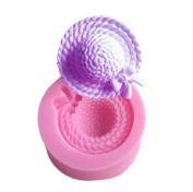 Outflower Mini Ladies-Hat-Shape Silicone Mould Fondant Sugar Bow Craft Moulds DIY Cake Moulds Random