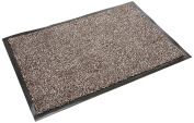 Addis Mega Door Mat Highly Absorbent Cotton Non slip PP Mix machine Washable - Large 75 x 50 cm Brown Speck, Brown Fleck