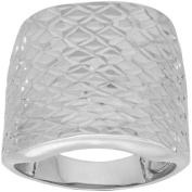 Simply Silver Quilted Dome Design Sterling Silver Ring, Size 7