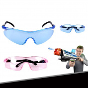 Qiyun 3D Goggles Children 3D Goggles Eyes Protective Glass for Water Projectile Protection CS Simulation Game Shooting