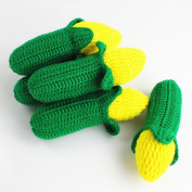 Baby Handmade Knit Fruit Vegetable Toy for Cute Newborn Girl Boy Warm Knitting Photography Prop Photo