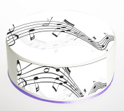 Music Notes, Musical, Musician Cake Topper. Round Cake Topper. Edible Rice Paper Wafer 19cm cake topper with FREE Banner!