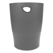 Exacompta Office Ecobin Waste Paper Bin, 263x263x335mm - Mouse Grey