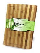 """Suave Touch, Bamboo Cutting Board with Deep Groove - Thick, Strong, Extra Large 46cm x 30cm x ¾"""" Butchers Block for Carving Meat, Fruits & Vegetables, Naturally Antimicrobial"""