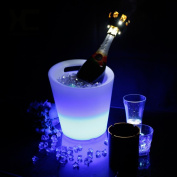 HUANZI Colour Changing LED ice bucket ith Remote Control for party, Festival Decoration Lighting , white