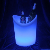 HUANZI LED Colour Changing Party Ice Bucket perfect for Wine and Champagne - Change16 Colours , white
