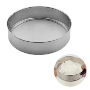 YIJIA 20cm Flour Sieve with 40 Mesh Stainless Steel Baking Tool Flour Sifting Flour