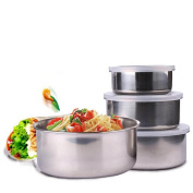Baokee® 5 Pcs Stainless Steel Home Kitchen Food Container Storage Mixing Bowl Set