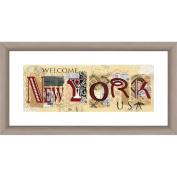 Welcome to New York II 48cm x 25cm Wall Art