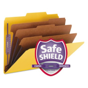 Smead Coloured Pressboard Classification Folders with SafeSHIELD® Coated Fastener Technology