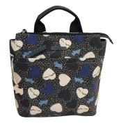 RADLEY 'Hearts' Navy Black Oilskin Backpack Bag - RRP £115