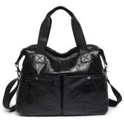 Girl messenger bag,Travel bulk bags Handbags Shoulder bag for women black-A