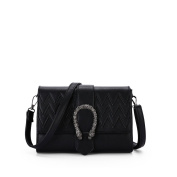 Ladies small square package,Wild retro personality lock shoulder bag Crossbody bags for girls-A